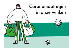 Coronamaatregels in de winkels (vanaf 26 april 2021)