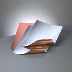 Metaalblad koper/zilver 20 x 30 cm 0,15 mm