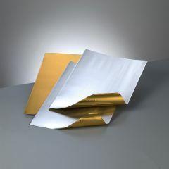 Metaalblad goud/zilver 20 x 30 cm 0,15 mm