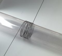 Nylondraad elastisch 1 mm 5 m zwart