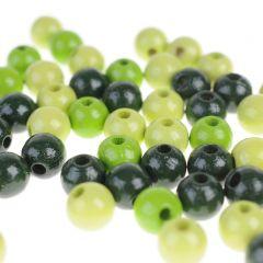 Houten kralen 8 mm 118 stuks mix groen