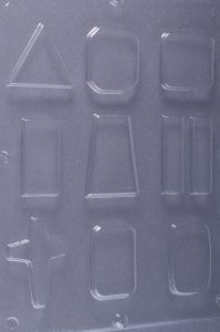 Gietvorm voor giethars o.a. driehoek