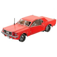 Metal Earth Ford Mustang coupe 1965 rood