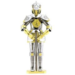 Metal Earth harnas Europese ridder (zilver + goud)