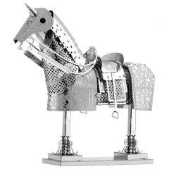Metal Earth harnas paard (zilver)