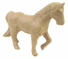 Papier-maché figuurtje 12 cm paard