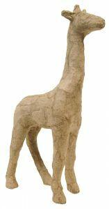 Papier-maché figuurtje 12 cm giraf