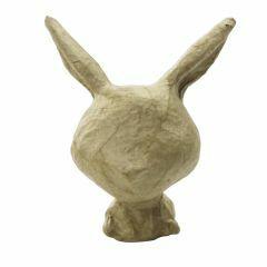Papier-maché figuurtje 8,5 cm  konijn