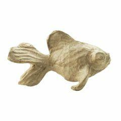 Papier-maché figuurtje 12 cm goudvis