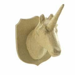Papier-maché trofee 21 cm eenhoorn