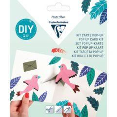 Kit pop-up kaart Vogels