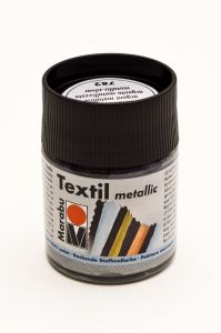 Marabu textielverf metallic 50 ml zilver