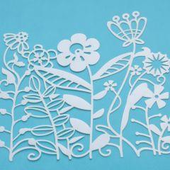 Marabu Silhouette sjabloon 15 x 15 cm Flowerbed