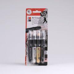 Marabu Art Crayon 4 stuks Essential