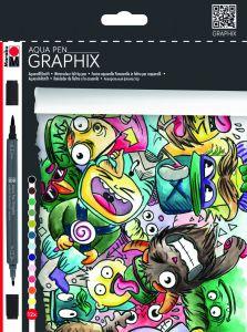 Marabu Graphix Aqua-stiften 12 stuks Mega Mash