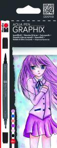 Marabu Graphix Aqua-stiften 6 stuks Make Manga