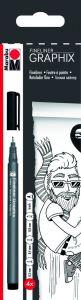 Marabu Graphix fineliners 4 stuks zwart