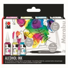 Marabu Alcohol inkt set Flowers