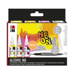 Marabu Alcohol inkt set Neon