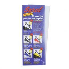 Saral transferpapier 5 vellen 21,6 x 27,9 cm mix