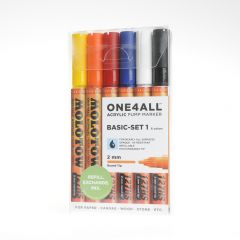 Molotow one4all marker 2 mm 6 stuks Basic Set 1