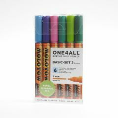 Molotow one4all marker 2 mm 6 stuks Basic Set 2