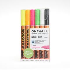 Molotow one4all marker 2 mm 6 stuks Neon Set