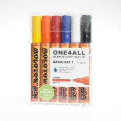 Molotow one4all marker 4 mm 6 stuks Basic Set 1