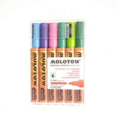 Molotow one4all marker 4 mm 6 stuks Basic Set 2