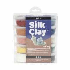 Silk Clay set 10 x 40 g natuurkleuren