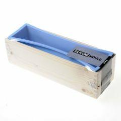Siliconen gietvorm in houten box 27,5 x 8,6 x 8 cm 1,5L