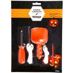 Halloween pompoen snijset