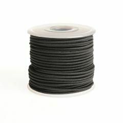 Elastiek rond 2 mm 25 m zwart