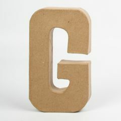 Letter karton, hoogte 20,5 cm, dikte 2,5 cm G