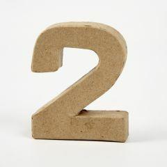 Cijfer karton, hoogte 10 cm, dikte 2 cm - 2