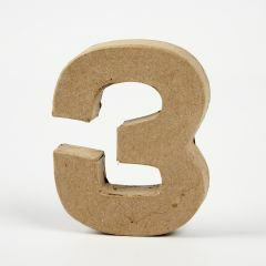 Cijfer karton, hoogte 10 cm, dikte 2 cm - 3