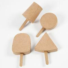 IJslollies karton 12,5 - 15 cm x 7 - 9 cm 4 stuks