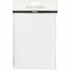Aida stof 43 vierkanten per 10 cm 50x50 cm wit