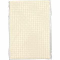 Aida stof 35 vierkanten per 10 cm 50x50 cm beige
