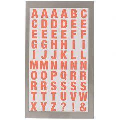 Stickers alfabet vierkant oranje