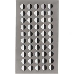 Stickers ogen half 8 mm 200 stuks zwart/wit