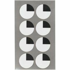 Stickers ogen kwart 25 mm 32 stuks zwart/wit