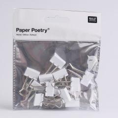Papierklem 19 mm 12 stuks wit