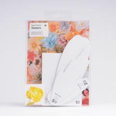 Sjablonenset papieren bloemen 5 stuks Dahlia XL