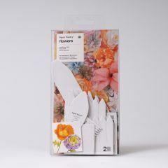 Sjablonenset papieren bloemen 11 stuks Chrysant en Klaproos