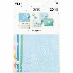 Verpakkingszakjes met stickers 20 stuks blauw