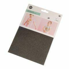 Strijkfolie glitter 15 x 18,5 cm zwart