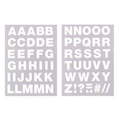 Strijkletters alfabet 67 stuks wit