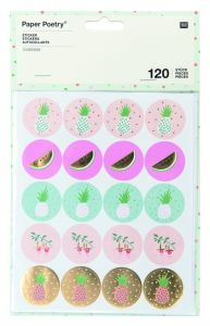Rico Tropical Stickerset 120 stuks ananas