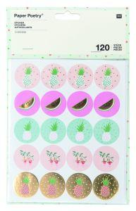 Rico Tropical Stickerset 120 stuks ananas